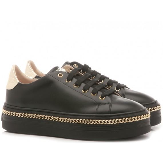 Stokton Sneakers Donna Pelle Nero 674-D-FW19