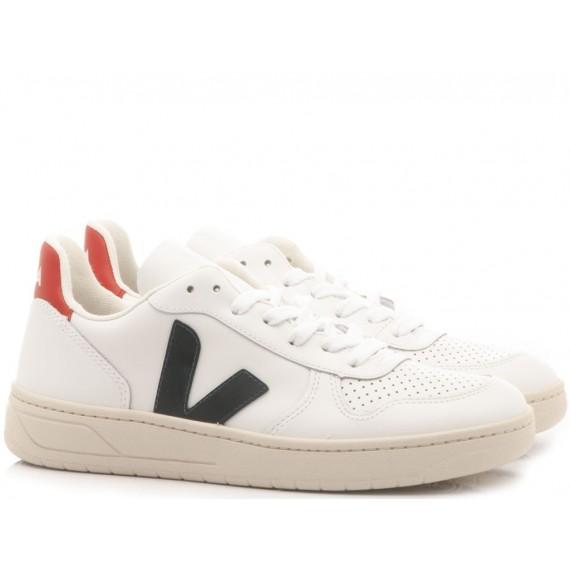 Veja Sneakers Donna V-10 Nautico Pekin White