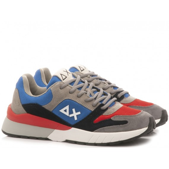 Sun 68 Men's Sneakers Yaki Suede Mesh Z29116
