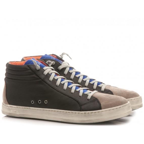 P448 Sneakers Alte Uomo Pelle-Camoscio Cocco A7 SKATE Black