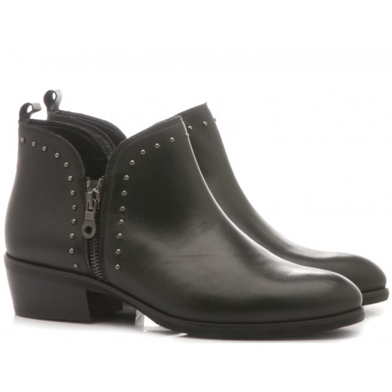 Kammi Women's Ankle Boots Leather Black 110