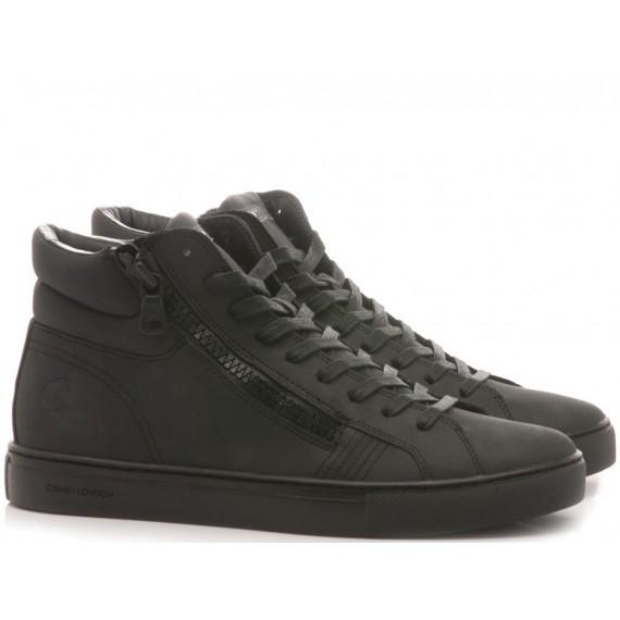 Crime London Men's High Sneakers Java Hi Black