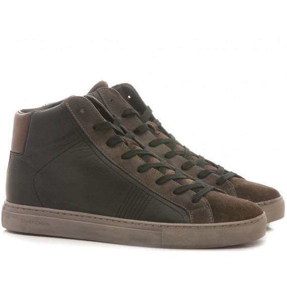 Crime London Sneakers Alte Uomo Infinity Moro