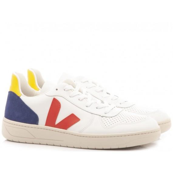 Veja Men's Sneakers V-10 White-Multi