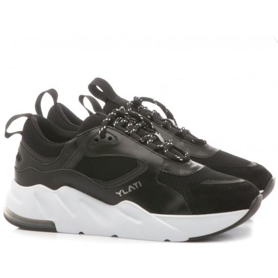 Ylati Men's Low Sneakers Ponza1 Black
