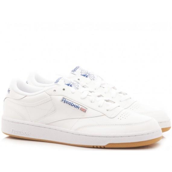 Reebok Sneakers Uomo Club C 85 So Pelle Bianco BS5214