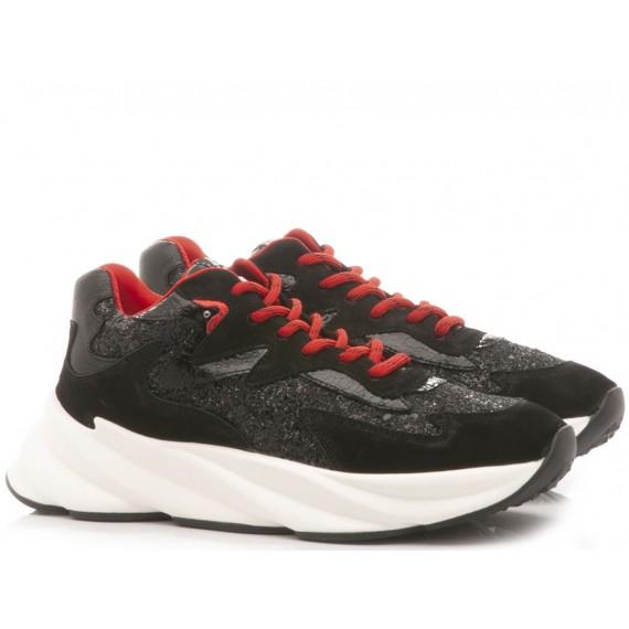 Elena Iachi Women's Sneakers E2210 Black-Red