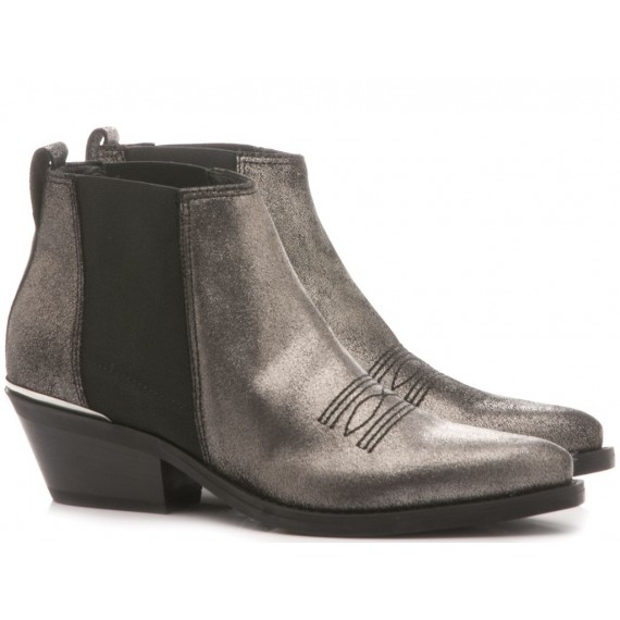 Janet & Janet Women's Ankle Boots Leather Gunmetal 4421344511