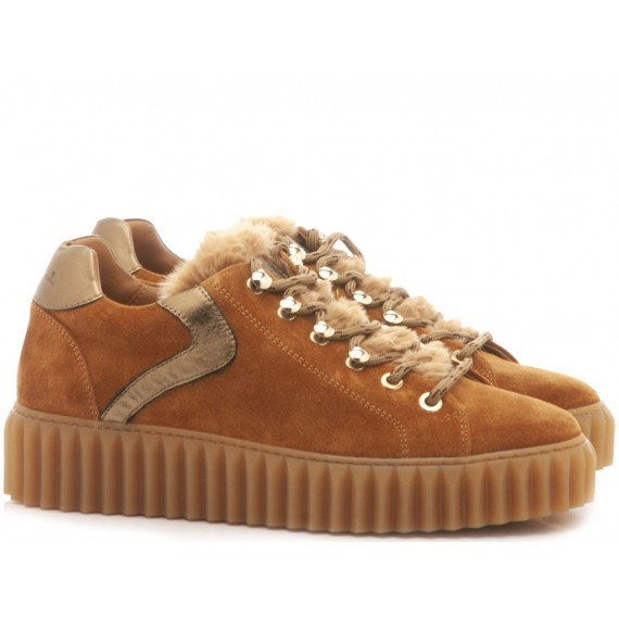 Voile Blanche Sneakers Donna Ebi Eyes Cognac