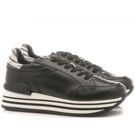 Janet Sport Sneakers Donna Scarpa Ghana Badu Pelle Bianco 39756