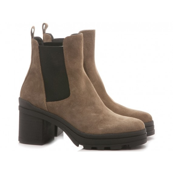 Janet Sport Women's Ankle Boots Suede Taupe 44802