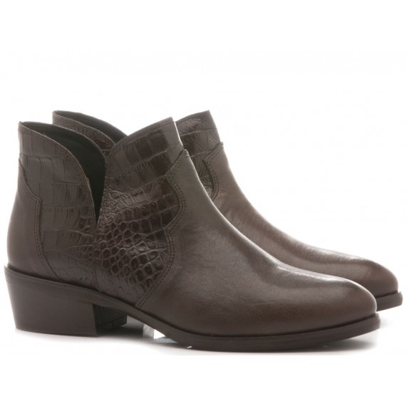 Kammi Women's Ankle Boots Leather Brown AN-20