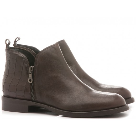 Kammi Women's Ankle Boots Leather Brown Maya