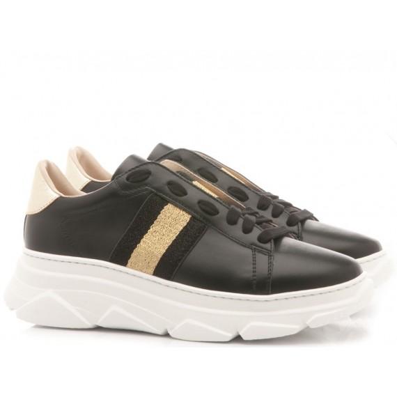 Stokton Women's Sneakers 650-D-FW19-U Leather Black