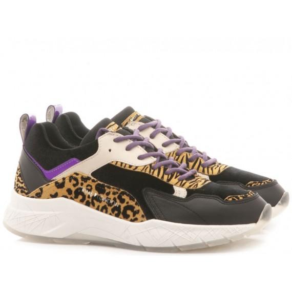 Crime London Women's Low Sneakers Komrad Animalier