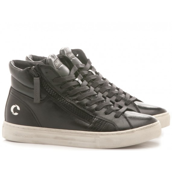 Crime London Sneakers Alte Donna Java Hi Nero