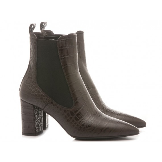 Janet & Janet Women's Ankle Boots Leather Ebony 44604
