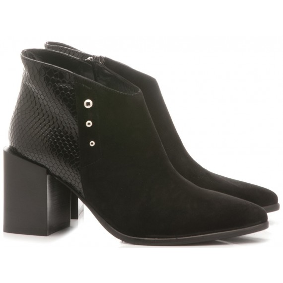 Laura Bellariva Women's Ankle Boots Black 4120B