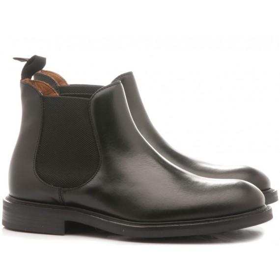 Frau Men's Ankle Boots Poncho Black