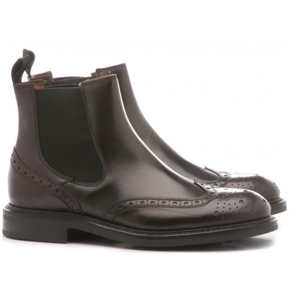 Frau Men's Ankle Boots Poncho Ebony