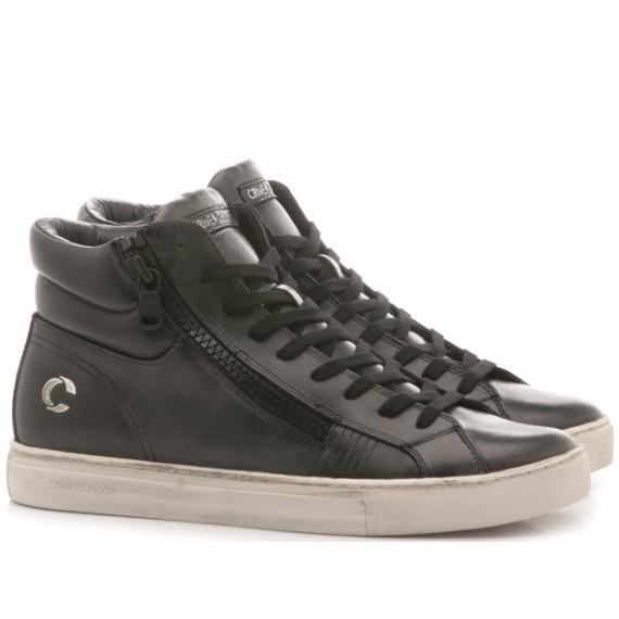 Crime London Men's High Sneakers Jason Black