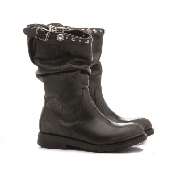 RepKo Women's Boots Black Leather BK5C