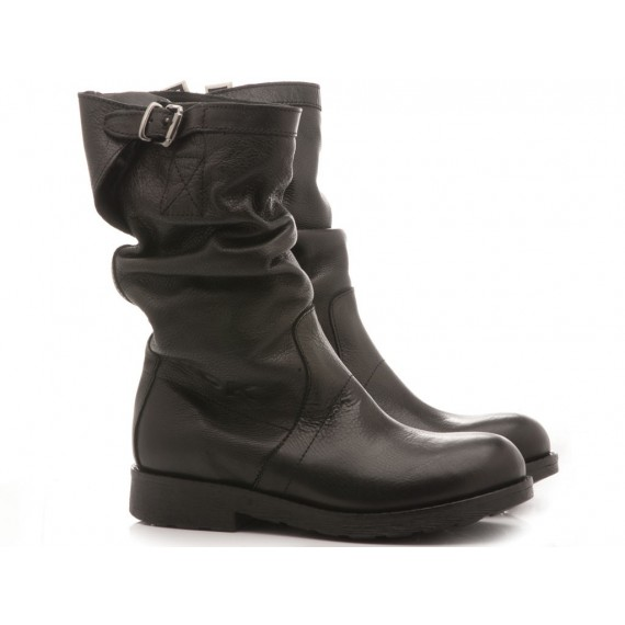 RepKo Women's Boots Black Leather BK5