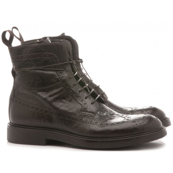 Corvari Men's Ankle Boots Ebony Leather 9045