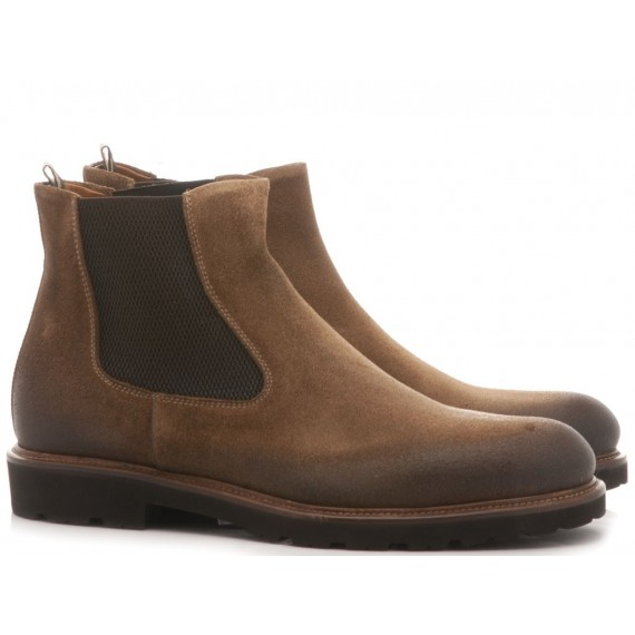 Luca Rossi Men's Ankle Boots Suede Brown 8113PLF