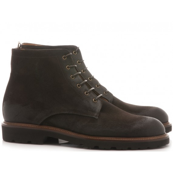 Luca Rossi Men's Ankle Boots Suede Charcoal 8114LPT
