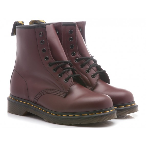 Dr. Martens Alte Cherry Red-Rouge Pelle Smooth 1460