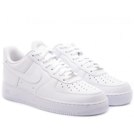 Nike Sneakers Bambini Air Force 1 GS Bianco 314193-117