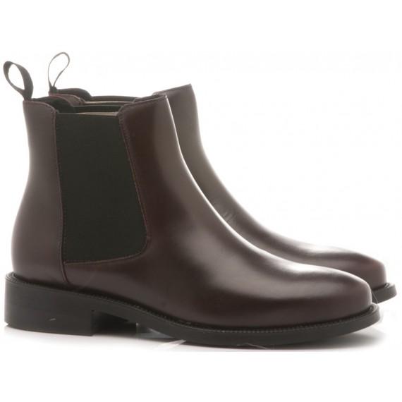 Frau Women's Shoes-Ankle Boots Suede Bordeaux 9823