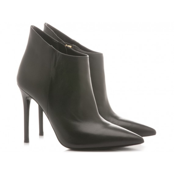 Michael Kors Women's Ankle Boots Antonia Leather Black