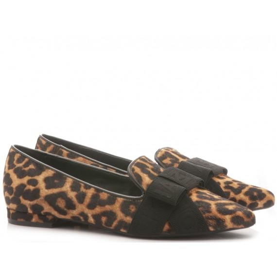 Michael Kors Women's Ballerina Shoes Ames Flex Leather Animalier