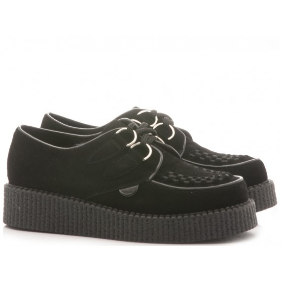TUK Scarpe-Sneakers Donna Low Round Creeper Nero A6806