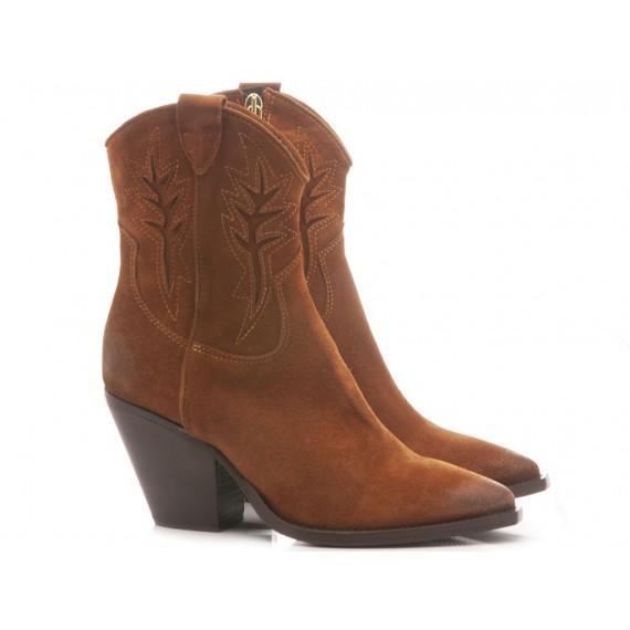 Curiositè Women's Ankle Boots Suede Copper
