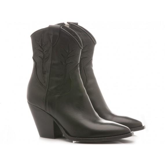 Curiositè Women's Ankle Boots Leather Black