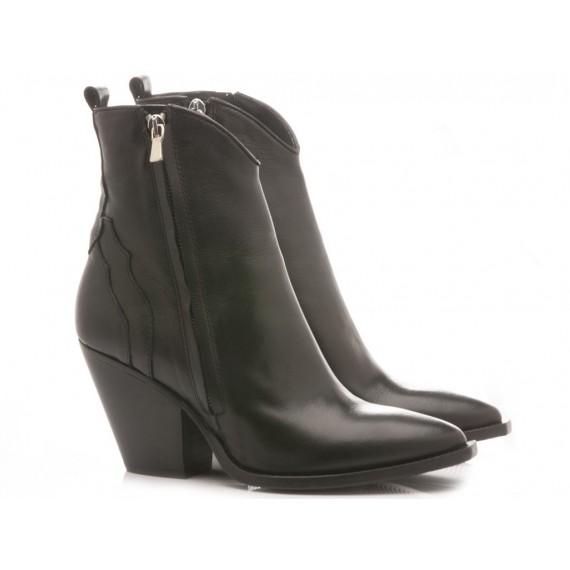 Curiositè Women's Ankle Boots Leather Black 1406