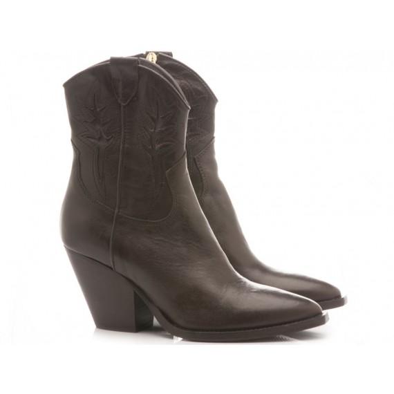 Curiositè Women's Ankle Boots Leather Tequila