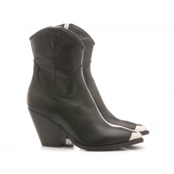 Curiositè Women's Ankle Boots Leather Black TX1P