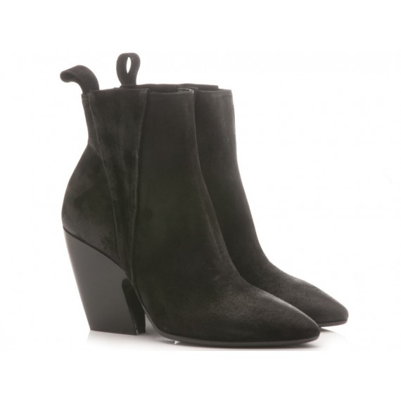 Matteo Pitti Women's Ankle Boots Suede Black 3754