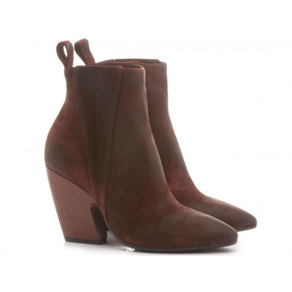 Matteo Pitti Women's Ankle Boots Suede Red 3754