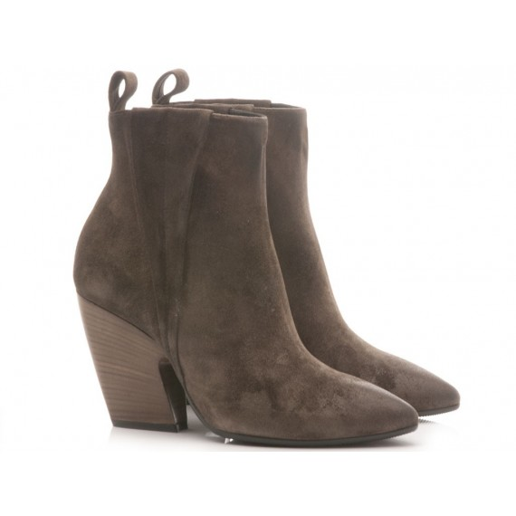 Matteo Pitti Women's Ankle Boots Suede Taupe 3754
