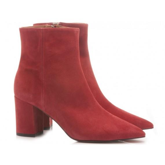 Les Autres Women's Ankle Boots Suede Red 1359