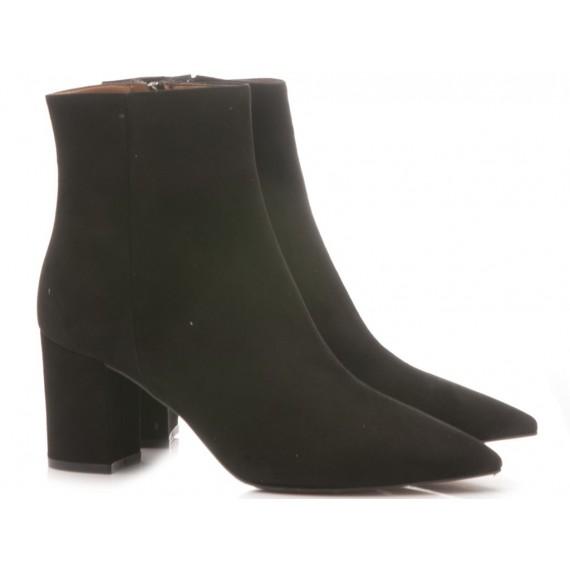 Les Autres Women's Ankle Boots Suede Black 1359