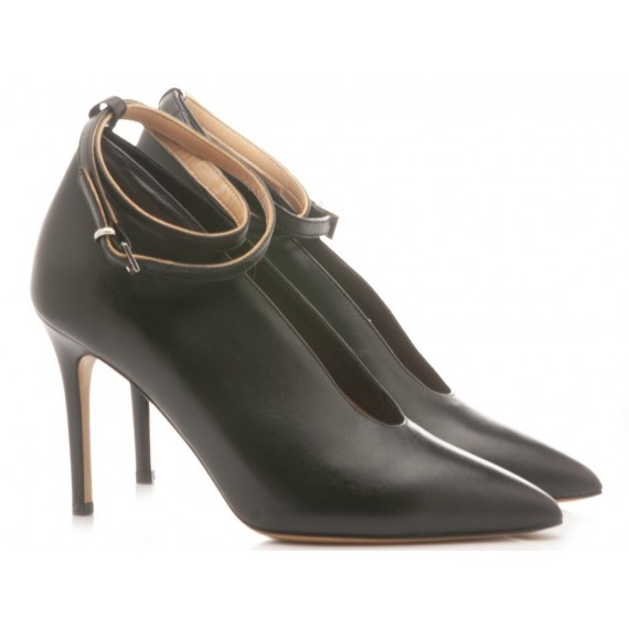 Matteo Pitti Women's Shoes Decolletè Leather Black