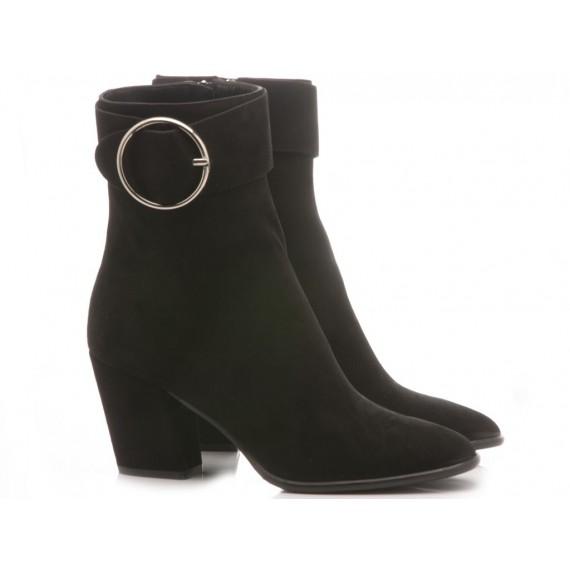 Mivida Women's Ankle Boots Suede Black 7554