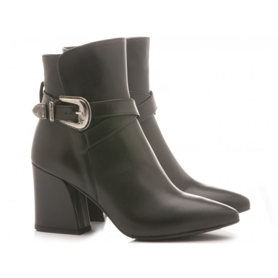 Mivida Women's Ankle Boots Leather Black 6058
