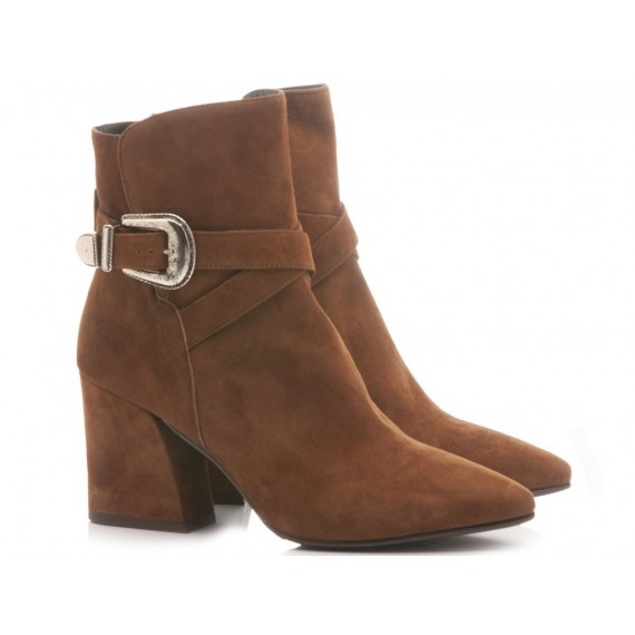 Mivida Women's Ankle Boots Suede Brown 6058